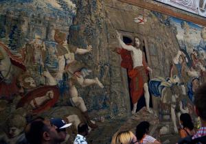 Wandteppich im Vatikanischen Museum - Foto:ready4FotoDesign.de für FemNews.de