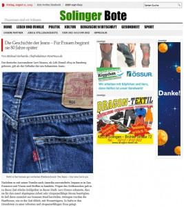 Screenshot von www.solinger-bote.de - FemNews.de