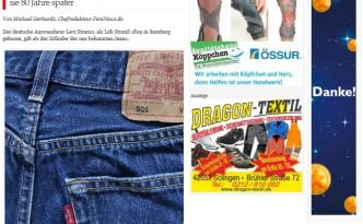 Solinger Bote berichter über die Geschichte der Jeans - FemNews.de