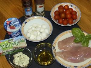 Mahlzeit - Mozzarella-Hähnchen - Die Zutaten - FemNews.de